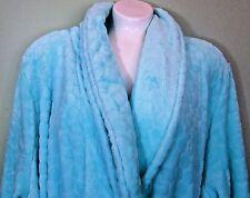 Womens Plus Robe Plush Wrap Turquoise 3X