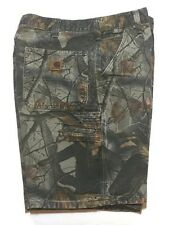 CARHARTT Realtree Carpenter Shorts 34 Camouflage Distressed Hunting 2 Pair Camo