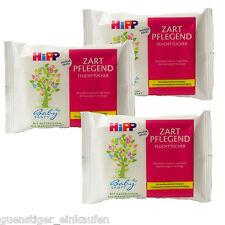 3x Hipp Feuchttücher Zart Pflegend Reisegröße Handtaschengröße 10 Tücher Reise