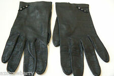 French Kidskin Laxury Leather Gloves Sz 7 mother of pearls tiny buttons