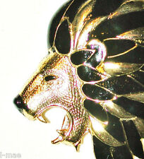SPHINX LEO LION FACE VINTAGE BLACK GOLD MANE BARRING FAINGS KING OF THE JUNGLE
