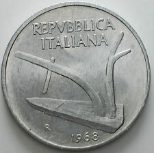 1968  Repubblica Italiana   10  lire   FDC