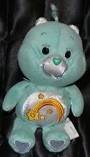 "8.5"" Wish Care Bears Carebears Plush Dolls Toys Stuffed Animals 2004 Beanie Teal"