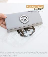 BNWT US$158 MICHAEL KORS FULTON Flap Continental Leather Wallet Clutch Purse