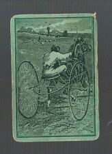 Playing  Cards 1 ANTIQUE SQ CRN   HORSE & BUGGY JOCKEY & WHIP  SQ51   C1800'S