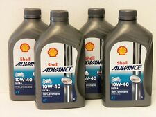 7,35 €/L Shell Advance Ultra 4t 10w-40 4 x 1 L Vollsyn 4 taktöl per Ducati