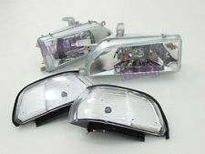 Headlights Headlamps for Toyota Corolla AE92 FX GT E90 EE90 sedan 89-92 WH lu#G