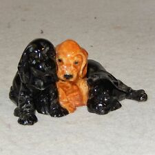 Royal Worcester Cocker SPANIEL Puppies Doris Lindner 3130 Porcelain Dog Figurine