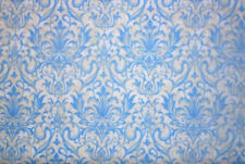 Silhouettes  Cotton Quilt Fabric Floral Damask Blue   Fabri-Quilt  Bfab FT