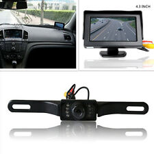 "Infrared Night Vision License Plate Reversing Camera 4.3"" LCD Display Screen Kit"