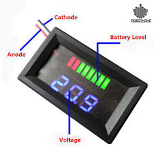 Charge Level Indicator Voltmeter for 12V 5-15mA Lead-acid Battery E Indicador