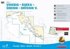 Delius Klasing Seekarten Satz 7 (2015/2016) Adria 1 Kroatien Slowenien