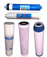 5 STAGE REVERSE OSMOSIS WATER FILTERS FILTER SET RO