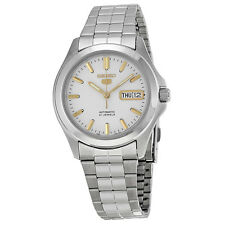 SEIKO MEN AUTOMATIC SEE THROUGH STEEL WATCH SNKK89 SNKK89K1