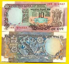R.N MALHOTRA TWO PEACOCK 10 RUPEES UNC NOTE, 1 FOR EACH SALE, NO COD