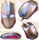 UK STOCK 2400DPI 6D NAFFEE Iron-Man G5S 6 Buttons Optical Wired Usb Gaming Mouse