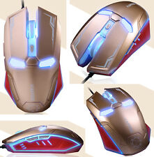 UK STOCK 2400DPI 6D NAFFEE Iron Man G5S 6 Buttons Optical Wired Usb Gaming Mouse