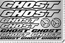 GHOST Sticker Set 1 | Fahrrad Rahmen Aufkleber | Bike Frame Sticker | 13 Decals