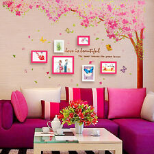 Two Pink Cherry Blossom Flower Tree Wall StickerMural Home Decor Beautiful new