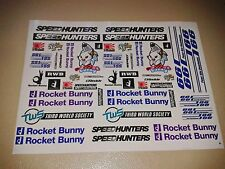 1/10 rc stikers Rocket Bunny decals