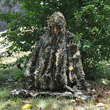 Military Hunting CS Camo 3D Leaf Ghillie Suit Training birdwatching Poncho Cloak