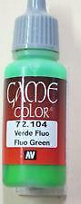 Vallejo Game Color Fluorescent Green Paint ( 17 ml ) Val 72104