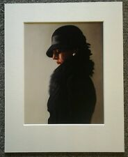 "JACK VETTRIANO ""PORTRAIT IN BLACK AND PEARL"" MOUNTED ART PRINT ROMANTIC"