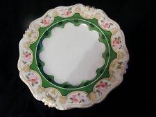Derby Bloor plaque circa 1830 peint main roses sur jante - 22,5 cm de diamètre