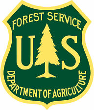 US Forest Service Reproduction Laser Cut Out Of Metal 12×14