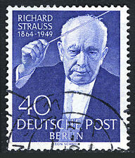 Germany-Berlin 9N111, Used. Richard Strauss, composer, 5th death anniv. 1954