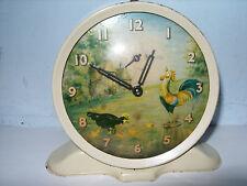 Smith's animated alarm clock. c1950's. Good working order.