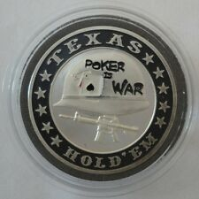 POKER IS WAR silver color Poker Card Guard Cover