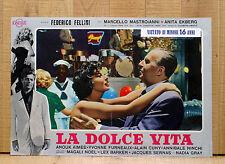 LA DOLCE VITA fotobusta poster affiche Federico Fellini Marcello Mastroianni