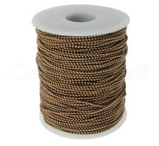 Ball Chain Roll - 330 Ft - Antique Copper Color - 1.5mm Ball - 100 Meters Bulk