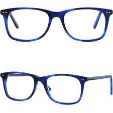 Leichte Herren Damen Brille Brillengestell Kleine Applikationen Kunststoff Blau