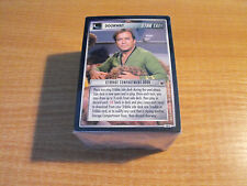STAR TREK CCG TROUBLE WITH TRIBBLES COMPLETE MASTER SET INCLUDING UR MCCOY