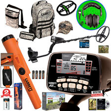 New Garrett AT Pro Metal Detector with Free Headphones and Propointer AT, Bags