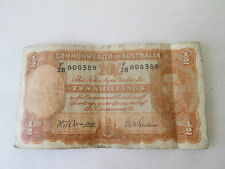 (1) 1942 COMMONWEALTH of AUSTRALIA TEN SHILLINGS BANK NOTE CIRCULATED CONDITION.