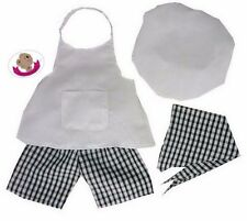 Tyddy Byar Clothys fit construir un oso de peluches Chef Cocineros Uniforme Ropa de Osos