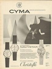 Publicité Advertising 1964  Montres  CYMA la toute nouvelle NAVYSTAR