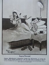 1917 BRUCE BAIRNSFATHER CARTOON - SUPRA NORMAL ANGRY PATIENT; OLD MOORE WWI WW1