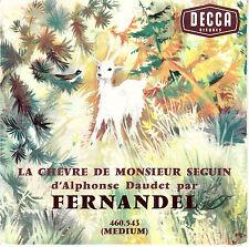 """7"""" FRENCH EP 45 TOURS FERNANDEL """"La Chèvre De Monsieur Seguin"""" 1965"""