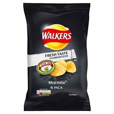 Walkers Marmite Crisps 6 x 25g - Sold Worldwide From UK