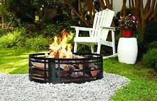 Fire Pit Ring 36 Metal Grate Wood Burning Patio Hearth Outdoor Backyard Heater