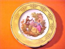 "Vintage Limoges France Veritable Porcelaine 7.25"" Plate Gilded Gold Accents M573"