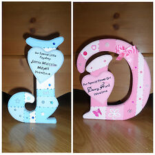 Personalised Freestanding Wooden letter Page Boy Flower Girl Wedding Gift 18cm