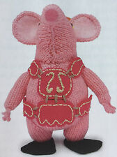 KNITTING PATTERN Tiny Clangers Childrens Character Toy CBeebies 14.5cm PATTERN