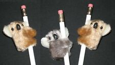"NEW 3 pc ""KOALAS Gray & Beige"" Pencil Huggers Furry Animal Birthday Party Favors"