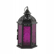 Beautiful Exotic Glass Candle Lantern NEW Moroccan Style Home Decor Hanging Goth