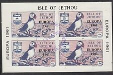 JETHOU (Channel Islands):1961 EUROPA overprint M/Sht-AITCH J14L fine used
